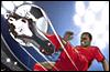 Игра Sensible Soccer Skillz для мобильного телефона Motorola V635