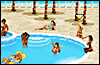 Игра Пляж Бикини для мобильного телефона SonyEricsson J300x