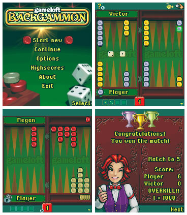 Gameloft Backgammon текст