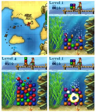 Cubes - подводный вариант игры Flexis (Тетрис с реальной физикой)